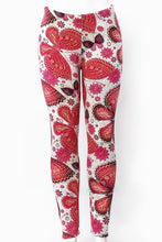 Load image into Gallery viewer, Pink Butterflies - Fur Lined Leggings