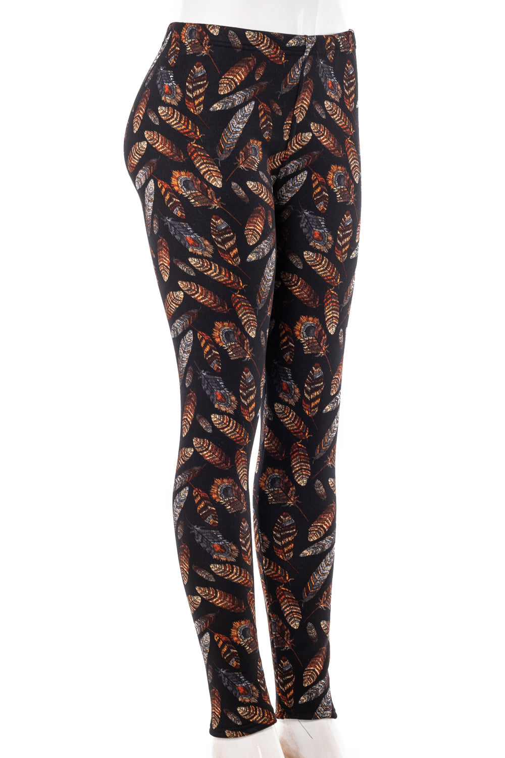 Golden Feathers - Fur Lined Leggings