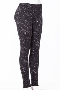 Space Black - Fur Lined Leggings