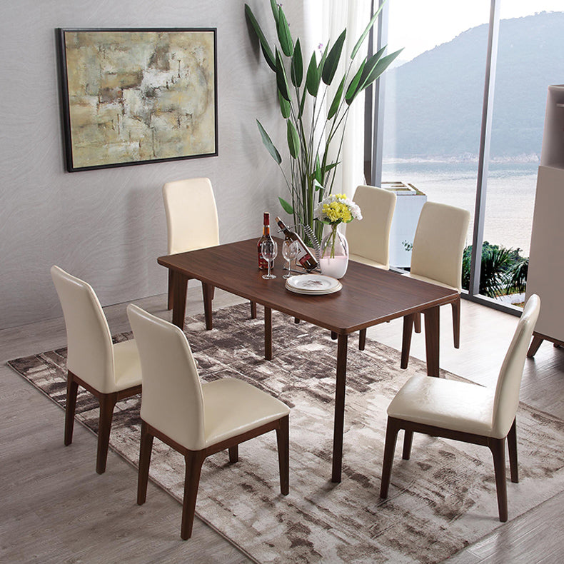 Hardwood Dining Room Table And Chairs