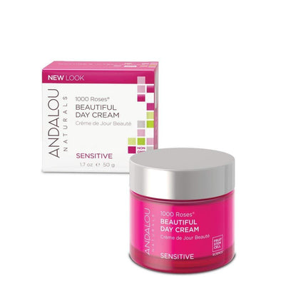 Andalou Naturals 1000 Roses Beautiful Day Cream, 1.7 Ounce
