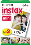 Fujifilm instax Mini 9 Instant Camera (Ice Blue) with Film Twin Pack Bundle (2 Items)