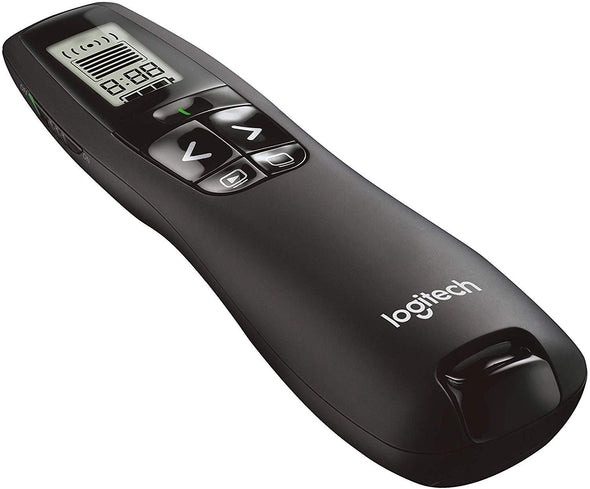 Logitech Professional Presenter R800, Wireless Presentation Clicker Remote with Green Laser Pointer and LCD Display