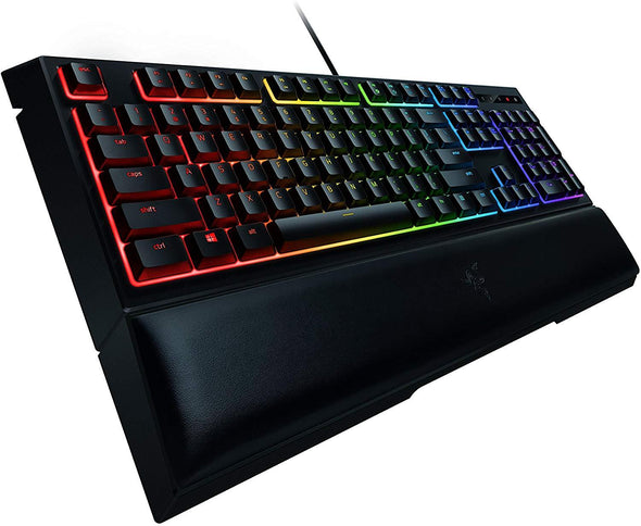 Razer Ornata Chroma Gaming Keyboard: Mecha-Membrane Key Switches - Customizable Chroma RGB Lighting - Individuallly Backlit Keys - Detachable Plush Wrist Rest - Programmable Macro Functionality