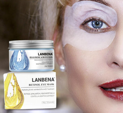 LANBENA™ Retinol & Hyaluronic Acid Eye Masks 90g/50pcs
