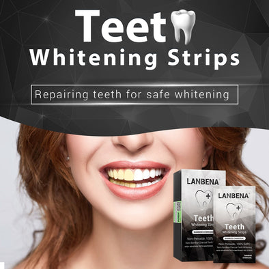 LANBENA™ Teeth Whitening Strips Bamboo Charcoal 7 Pairs/Box