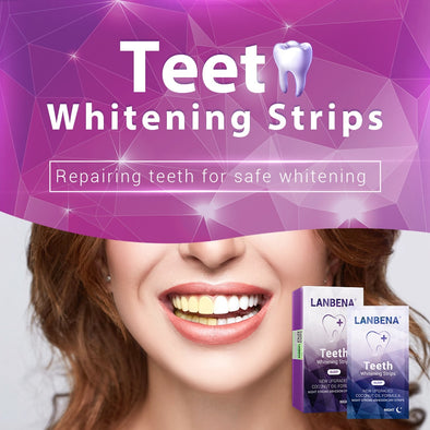 LANBENA™ Teeth Whitening Strips For Night 7 Pairs/Box