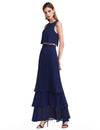 Ever Pretty Frauen Elegantes Zweiteiliges Ärmelloses Hollow Out Geschichtetes Brautjungfernkleid 07173-Navy Blau 1