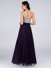 Ever Pretty Damen Langes One Shoulder Kleider Cocktailkleider 07404-Dunkel Violett 2