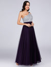 Ever Pretty Damen Langes One Shoulder Kleider Cocktailkleider 07404-Dunkel Violett 4