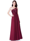 Ever Pretty Elegantes Eine Schulter Langes Abendkleid Mit Pailletten 07446-Burgundy 1