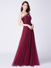 Ever Pretty Elegantes Eine Schulter Langes Abendkleid Mit Pailletten 07446-Burgundy 3