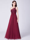 Ever Pretty Elegantes Eine Schulter Langes Abendkleid Mit Pailletten 07446-Burgundy 4
