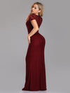 Ever Pretty Elegant Bodycon Spitzen Langes Abendkleid Ez07752-Burgundy 2