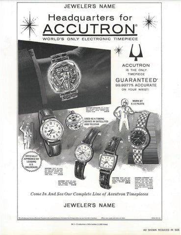 Vintage Accutron Advertisement