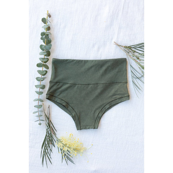 Mana High-Waisted Knickers In Myrtle Green