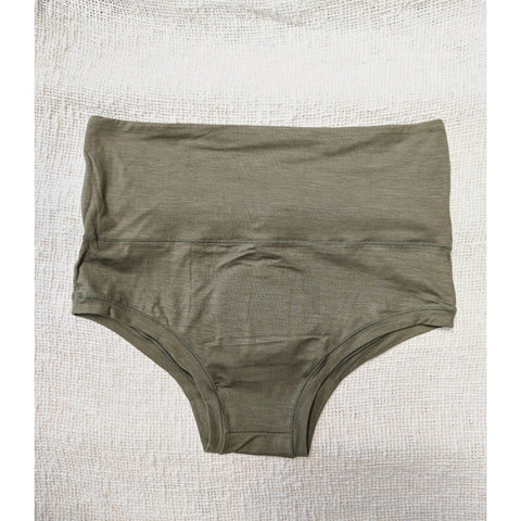 Factory Seconds Mana Highwaist Knickers in Myrtle Green