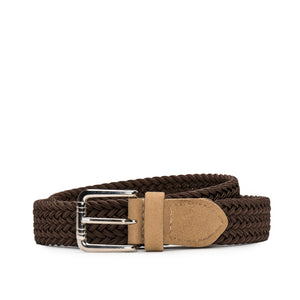 Vila Brown Braided Vegan Belt