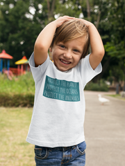 Protect the Planet. Protect the Oceans. Protect the Animals. Kids Tee.(2-6Years)
