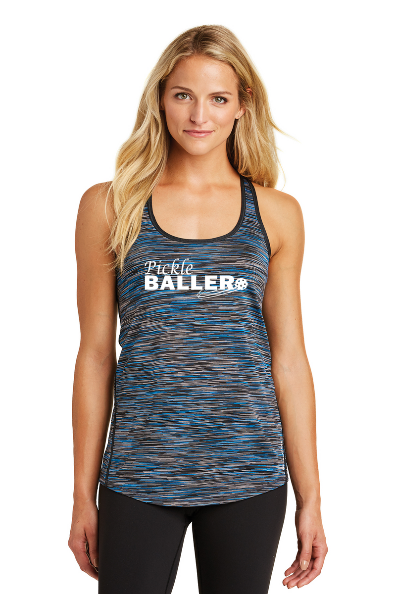 OGIO® ENDURANCE Ladies Verge Racerback Tank 'Pickleballer'