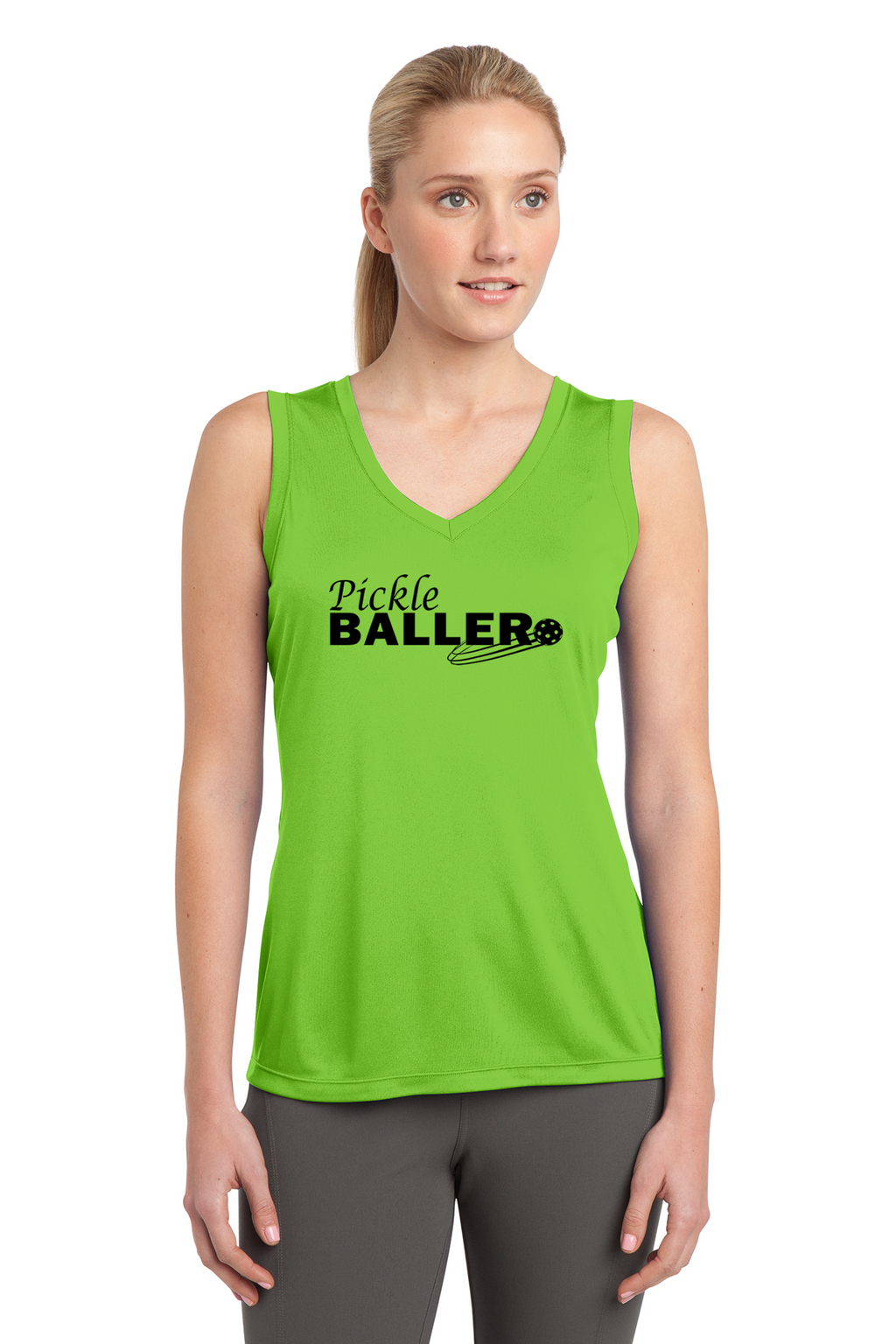 Ladies Sleeveless Performance Tee 'Pickleballer'