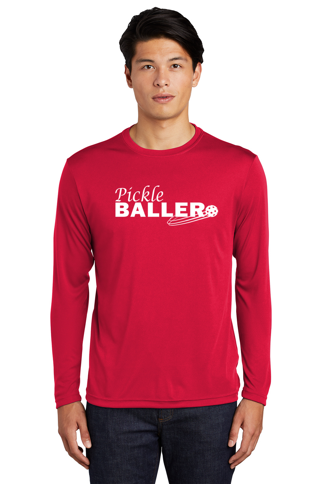 Men's Long Sleeve Performance Shirt 'Pickleballer'- Regular & UPF 50*