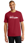 Men's 100% Cotton Tee 'Pickleballer'