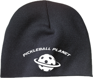 Black pickleball beanie