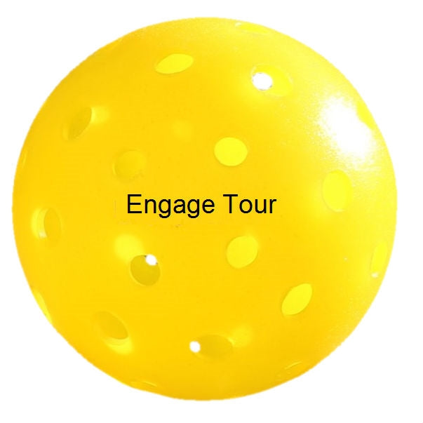 ENGAGE TOUR OUTDOOR PICKLEBALL- 72 Pack (Yellow)
