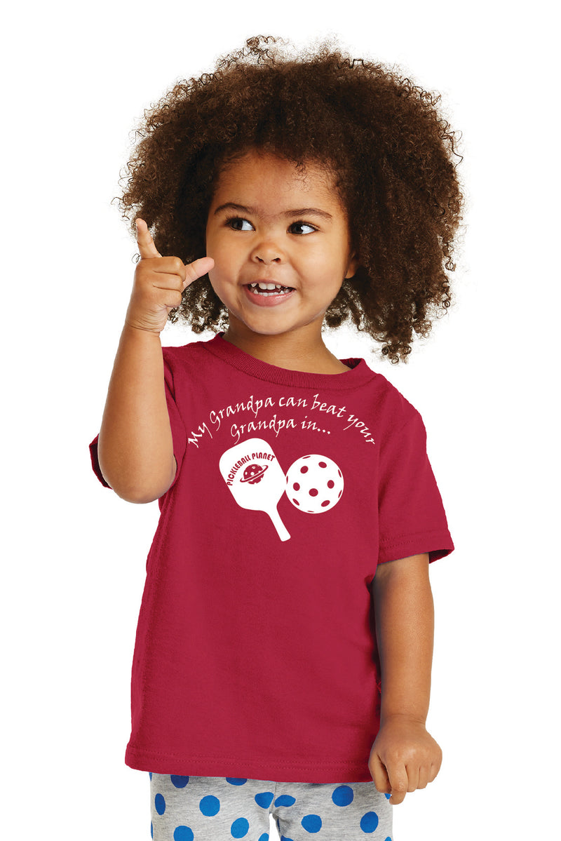 Port & Company® Toddler Core Cotton 'Grandpa' Tee