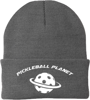 Gray pickleball knit cap