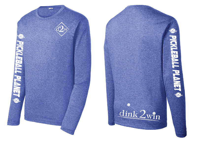 Men's Long Sleeve Performance 'D2W' Royal Heather