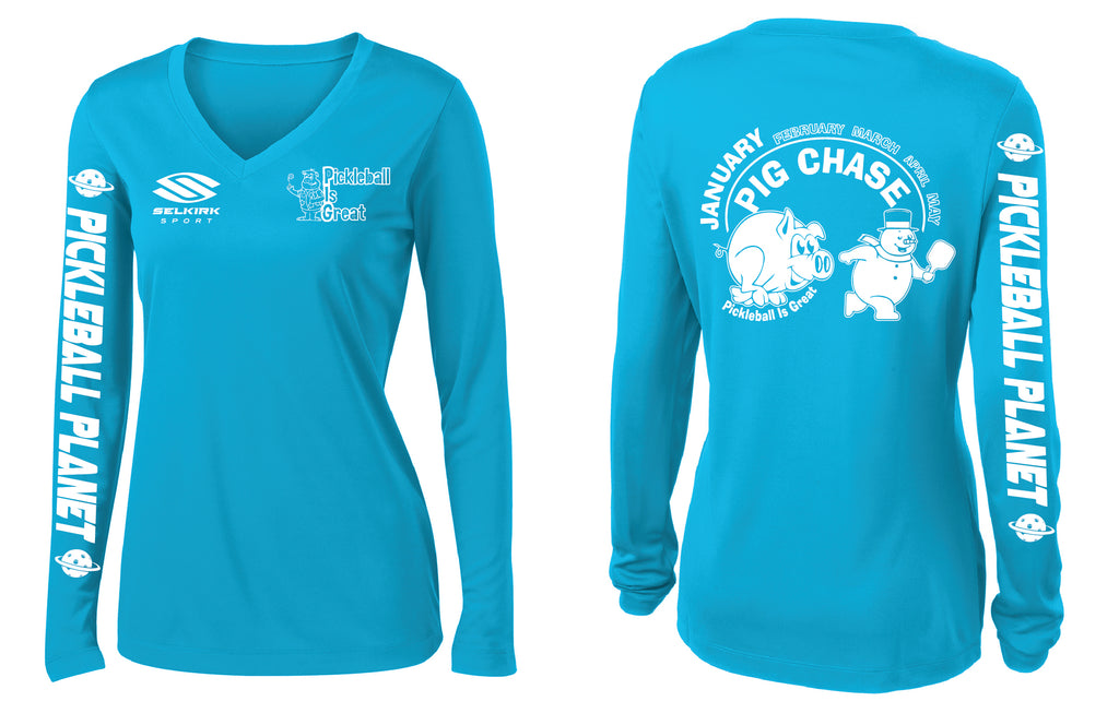 Women's Long Sleeve Performance 'January 2020 PIG' Shirt