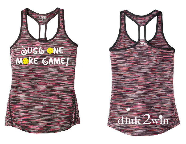 OGIO® ENDURANCE Ladies Verge Racerback Tank 'Just One More Game!' Fierce Coral