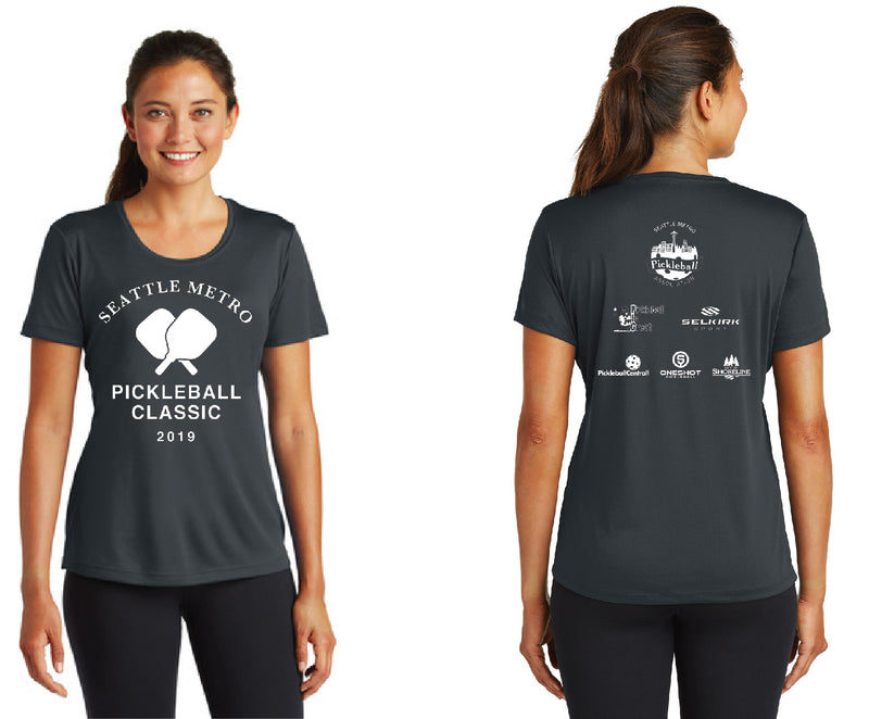 Women's Short Sleeve Performance 'Seattle Metro' Iron Grey Tournament Shirt