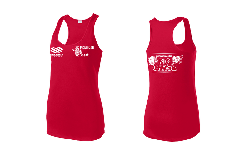 Women's Racerback Tank Performance 'February 2019 PIG' Shirt