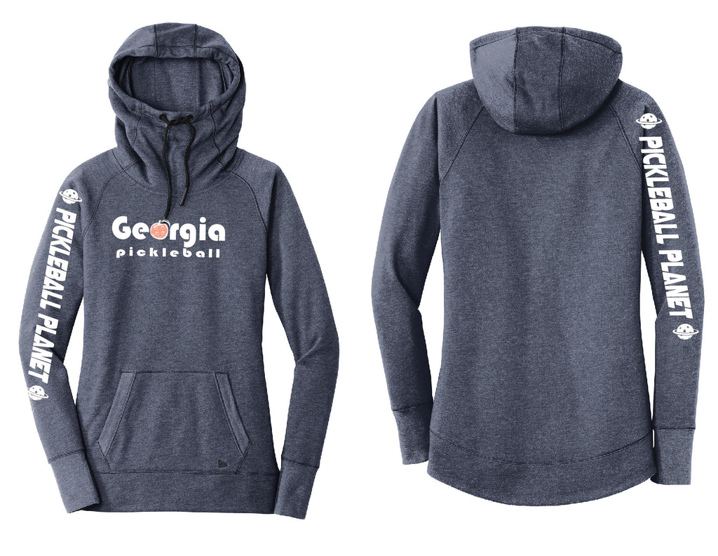 Ladies Pullover Hoodie Navy Heather Georgia Pickleball