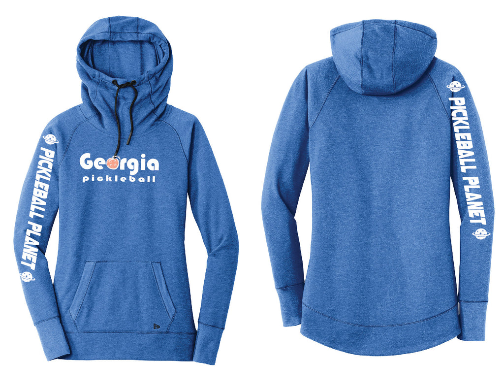 Ladies Pullover Hoodie Royal Heather Georgia Pickleball