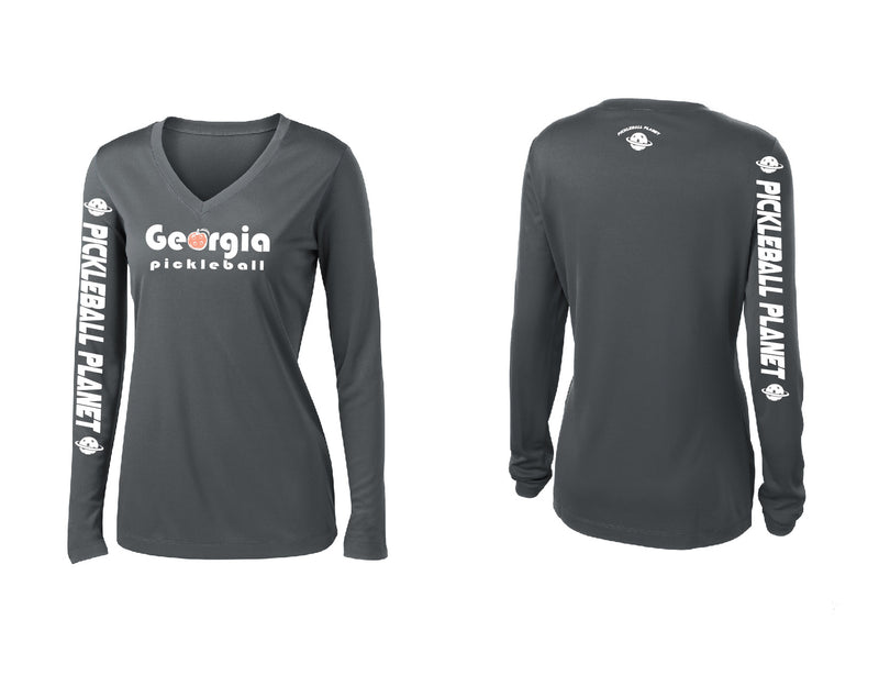 Ladies Long Sleeve Iron Gray Georgia Pickleball
