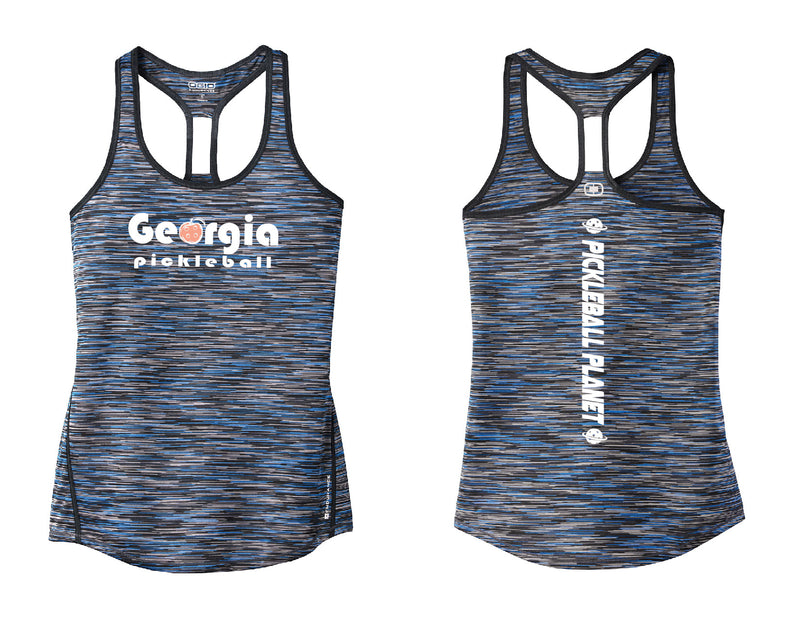 Ladies OGIO Racerback Tank Blue Georgia Pickleball