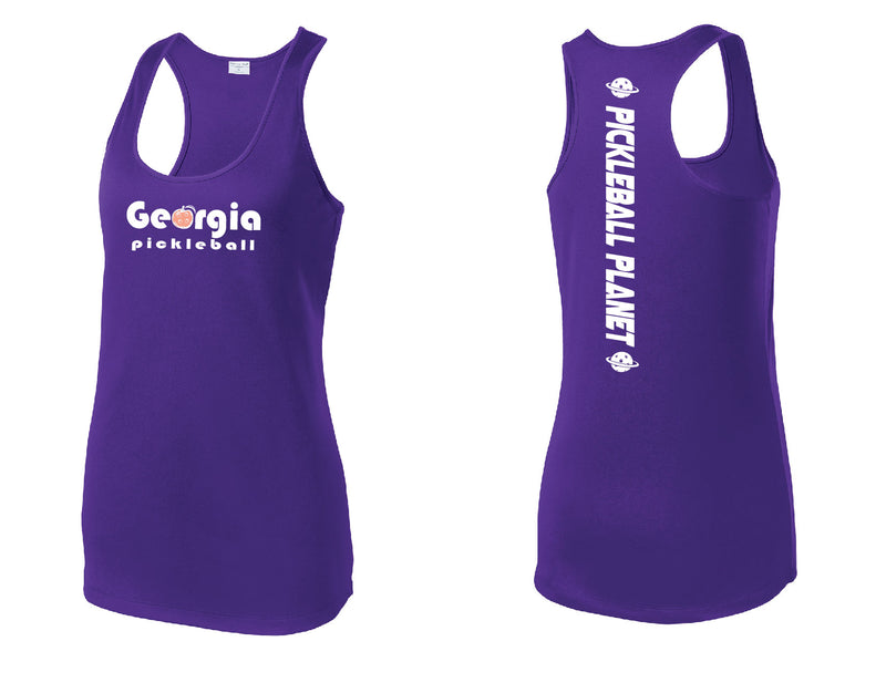 Ladies Racerback Tank Purple Georgia Pickleball