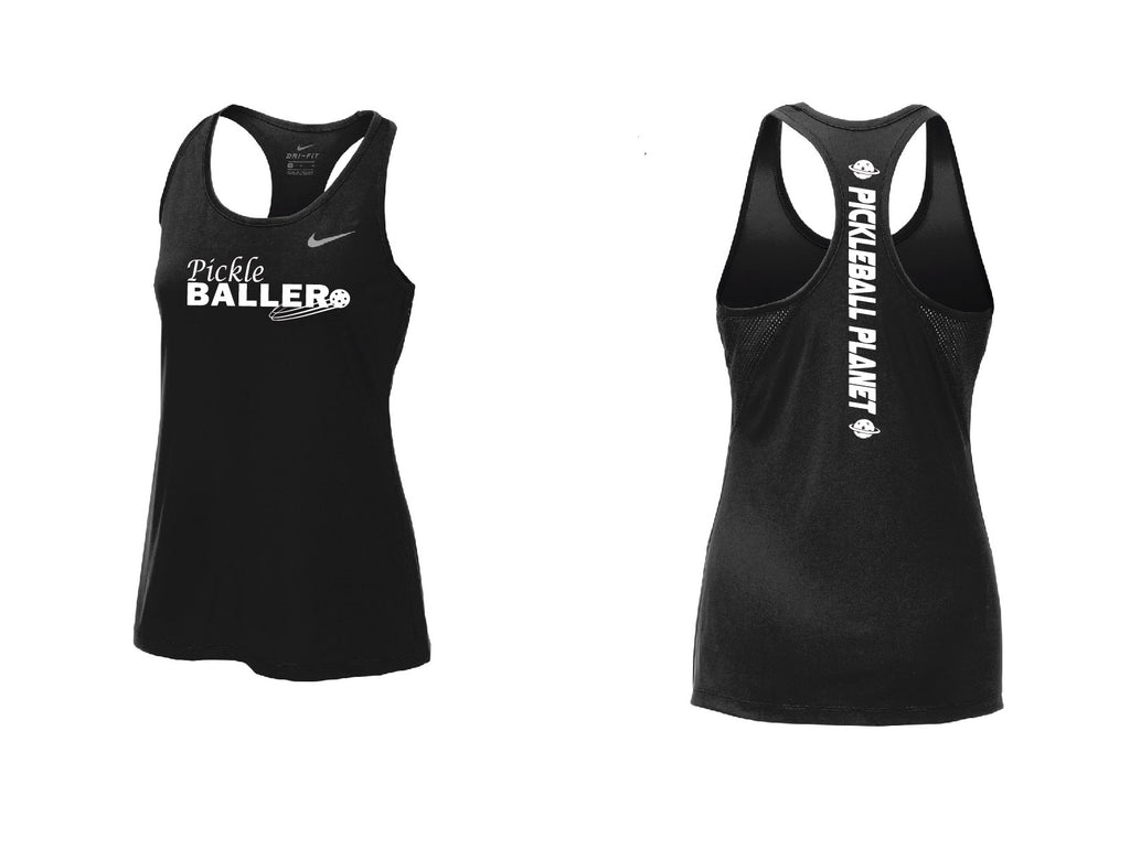 Ladies Nike Dry Balance Tank 'Pickleballer' Black