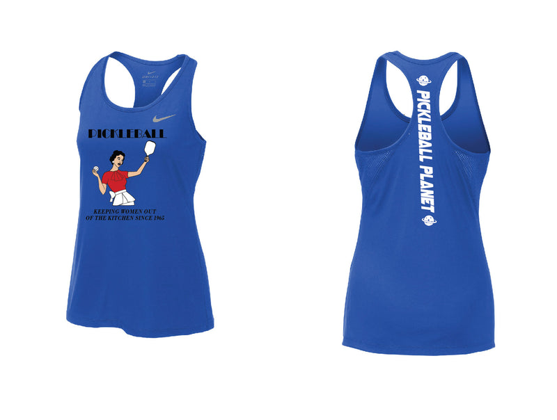 Ladies Nike Dry Balance Tank 'Kitchen' Game Royal