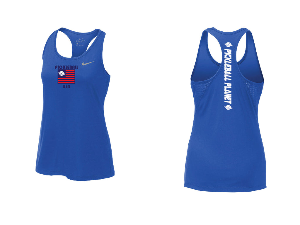 Ladies Nike Dry Balance Tank 'Pickleball USA' Game Royal