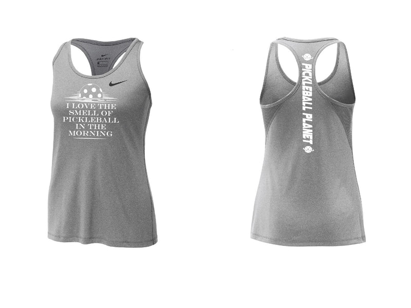 Ladies Nike Dry Balance Tank 'I Love the Smell...' Carbon Heather