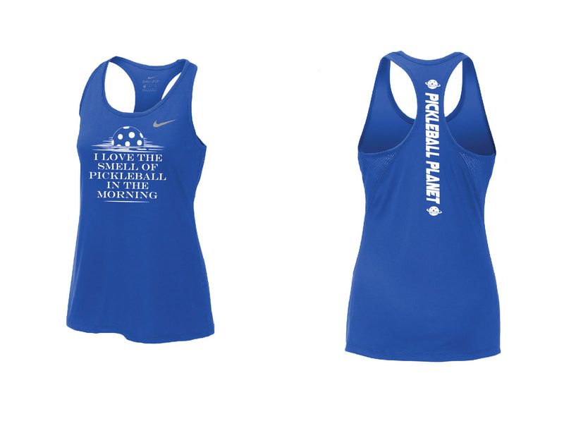 Ladies Nike Dry Balance Tank 'I Love the Smell...' Game Royal