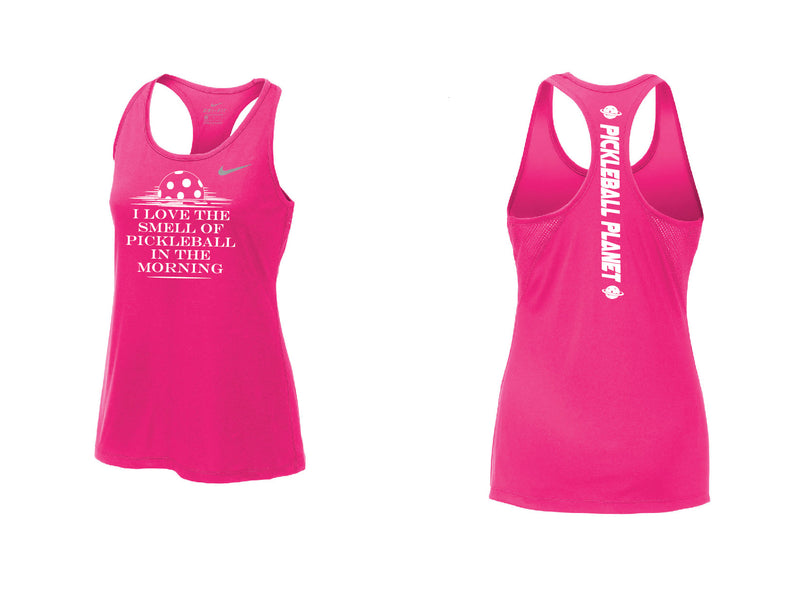 Ladies Nike Dry Balance Tank 'I Love the Smell...' Vivid Pink