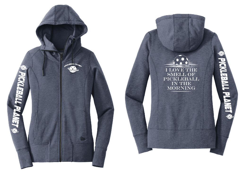 Ladies Full Zip Hoodie Navy Blue I Love the Smell