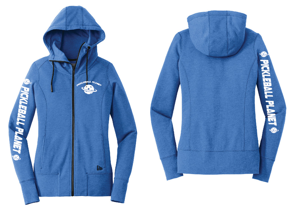 Ladies Full Zip Hoodie Royal Heather Pickleball Planet