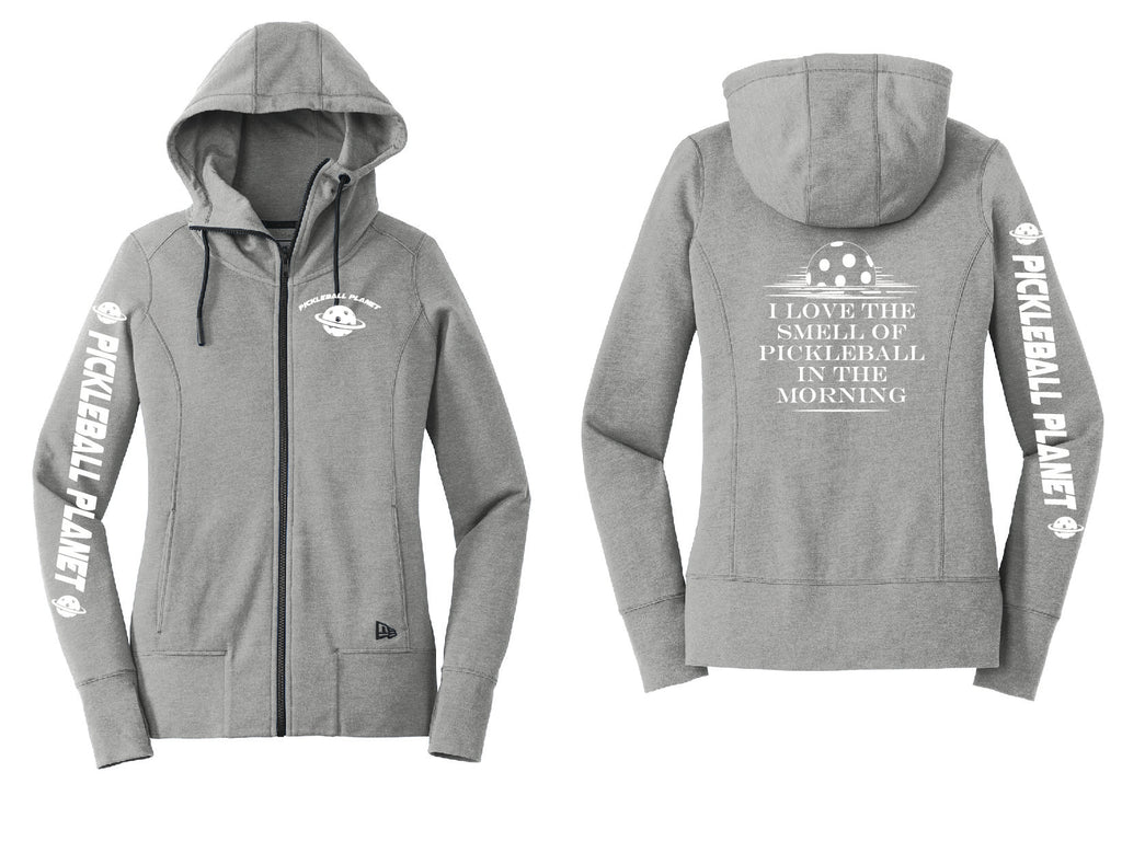 Ladies Full Zip Hoodie Shadow Gray I Love the Smell